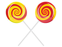 Lollipop composition Stock Photos