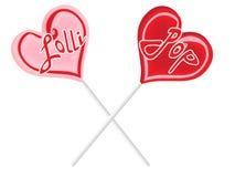 Lollipop composition Stock Images