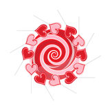 Lollipop composition Royalty Free Stock Image