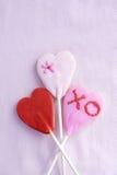 Lollipop cookie hearts Stock Images