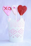 Lollipop cookie hearts Royalty Free Stock Photos