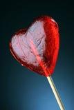Lollipop dado forma coração Foto de Stock
