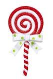 Lollipop de la Navidad Imagen de archivo libre de regalías