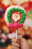 Lollipop de la Navidad Imágenes de archivo libres de regalías