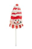 Lollipop de la Navidad aislado Foto de archivo