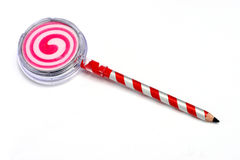 Lollipop del lápiz Foto de archivo