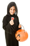 Lollipop di Halloween fotografia stock