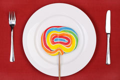 Lollipop dinner. Royalty Free Stock Images