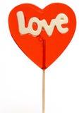 lollipop do Amor-coração Fotos de Stock Royalty Free
