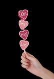 Lollipop do dia dos Valentim imagem de stock
