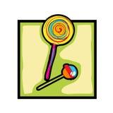 Lollipop e doces da arte de grampo ilustração royalty free