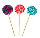 Lollipop espiral colorido Imagens de Stock Royalty Free