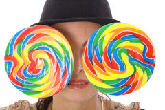 Lollipop eyes Royalty Free Stock Photo