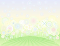 Lollipop field Royalty Free Stock Images