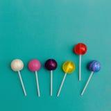 Lollipop Flat Lay Minimal Concept Royalty Free Stock Photo
