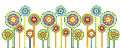 Lollipop flowers Stock Images