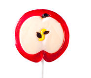 Lollipop form of an apple Royalty Free Stock Image