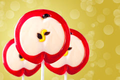 Lollipop in the form of an apple Stock Image