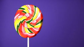 Lollipop in the form of an round stock footage