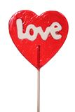 Lollipop a forma di del cuore Immagine Stock Libera da Diritti