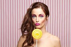 Lollipop girl Stock Image