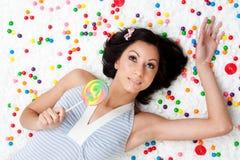 Lollipop girl stock photos
