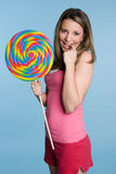 Lollipop Girl Royalty Free Stock Photos