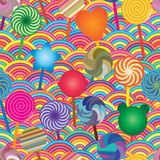 Lollipop half circle bright seamless pattern Royalty Free Stock Photos