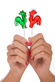 Lollipop in a hand Royalty Free Stock Photo