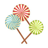 Lollipop hard candy vector isolated flat icons Stock Image
