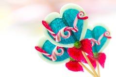 Lollipop in heart shape Royalty Free Stock Photo