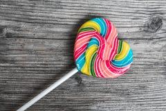 Lollipop Of Heart Shape Stock Photo