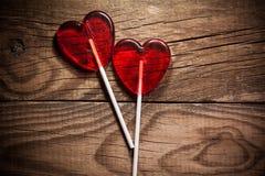 Lollipop heart Stock Photos