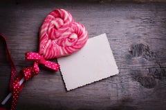Lollipop heart Stock Images