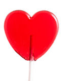 Lollipop heart on white. Stock Image