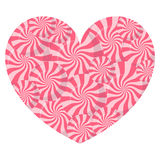 Lollipop heart on white background vector illustration. Royalty Free Stock Image