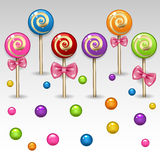 Lollipop. Illustration of colored sweet lollipop Royalty Free Stock Photography