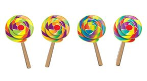 Lollipop isolated, doodle style Royalty Free Stock Photos
