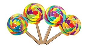 Lollipop isolated, doodle style Royalty Free Stock Images