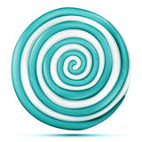 Lollipop Isolated Vector. Blue Round Sweet Candy Swirl Illustration vector illustration