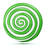 Lollipop Isolated Vector. Green Sweet Candy Round Swirl Illustration royalty free illustration