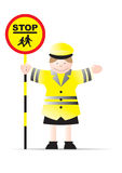 Lollipop lady. Illustration of smiling lollipop lady Royalty Free Stock Photography