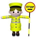 Lollipop Lady Stock Photo