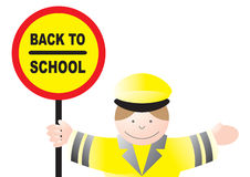 Lollipop lady back to school Stock Images