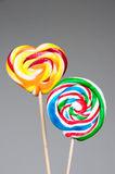 Lollipop lolly round heart Stock Photo