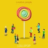 Lollipop lure marketing flat isometric vector 3d Stock Photography