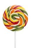 Lollipop multicolor aislado sobre blanco Imagen de archivo libre de regalías