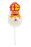 Lollipop na forma de Sinterklaas Fotografia de Stock