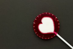 Lollipop on paper Stock Images