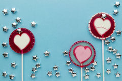 Lollipop on paper Stock Photos